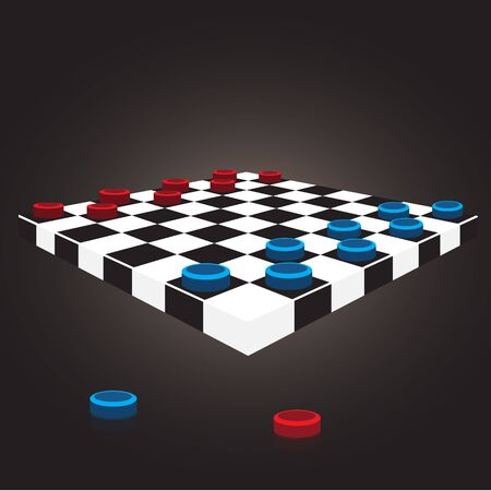 draughts: checkers board