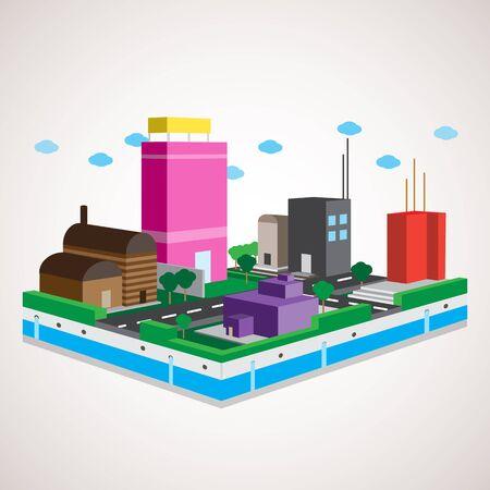 modelo: Cidade modelo 3d Ilustra��o