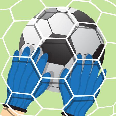 Goalkeeper batted ball Vector