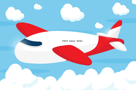 red airliner cartoon design