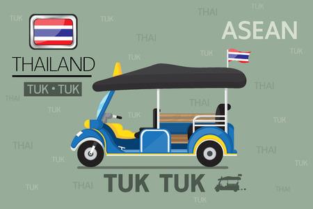tuk: Cartoon Tuk Tuk in thailand