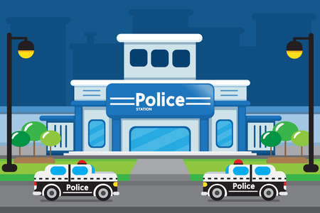 illustrations of police station