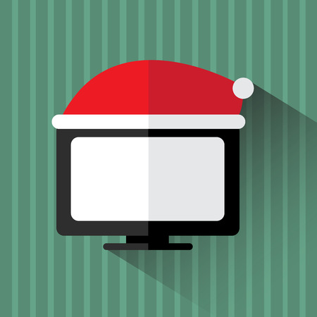 tv screen: flat tv on christmas day