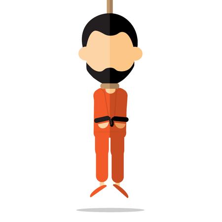 prisoners: executed prisoners cartoon vector