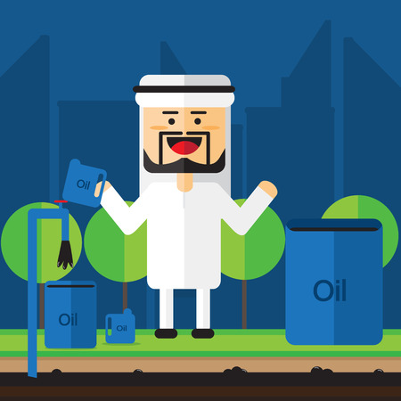 to sell: Men Saudi sell the oil