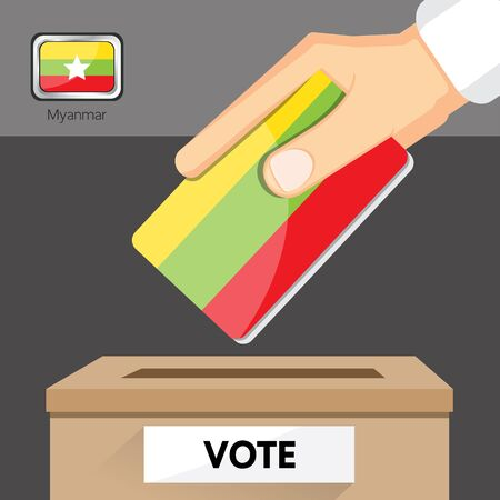 voter registration: The elections in Myanmar Illustration