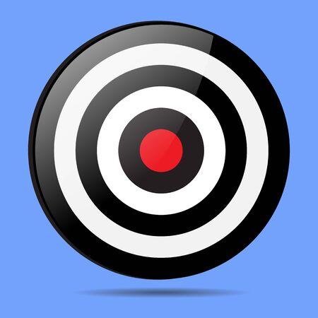 bullseye: red Target