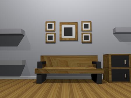 living room interior: INTERIOR LIVING ROOM. Stock Photo