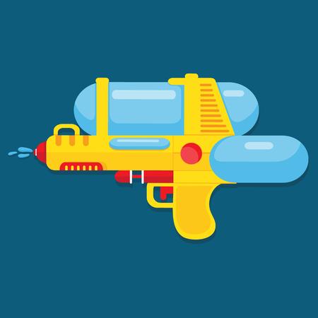 Waterpistool ontwerp voor de zomer.