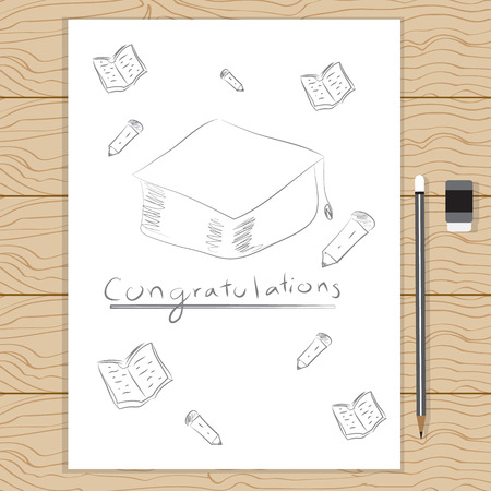 congratulation: Congratulation. Illustration