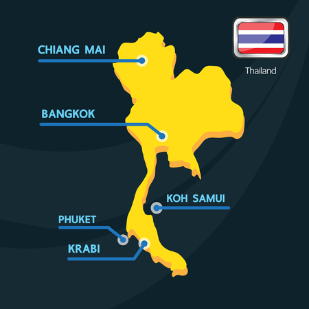 samui: Thailand map