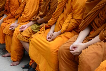 monks: Thailand Buddhist monks Stock Photo