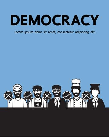 democracy: Democracy vector cartoon design. Illustration