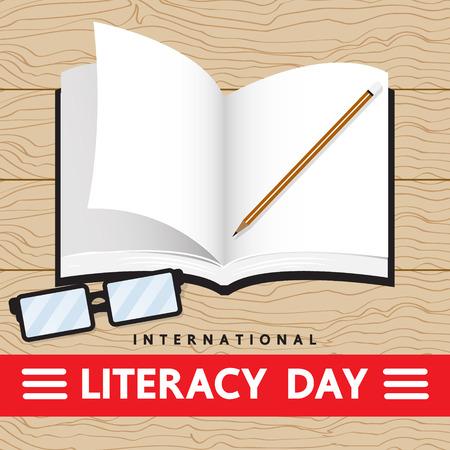 day: LITERACY DAY Illustration