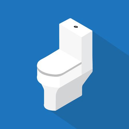 flush: flush toilet ,flat vector design