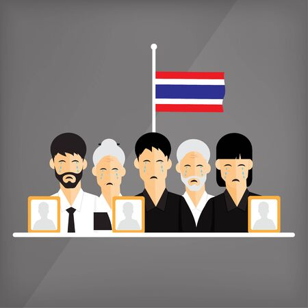 king thailand: The death of the King of Thailand. All people in Thailand are in mourning. Its a great loss to the Thai people. Are wear in mourning and flag lowered to half-mast.