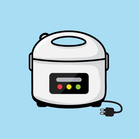 cooker: rice cooker vector design.