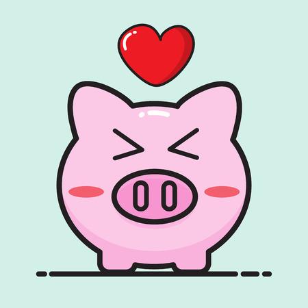 Pig Cartoon Vector Design For Valentine Day