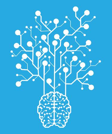 Line electronic brain . Artificial intelligence
