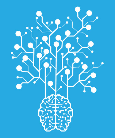 Line electronic brain . Artificial intelligence