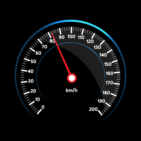 Vector speedometer design Ilustrace