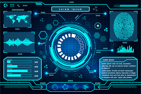 touch screen interface: Futuristic interface technology design.  Element of this image furnished by Nasa