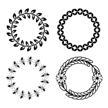 Leaf laurel set vector design Illustration