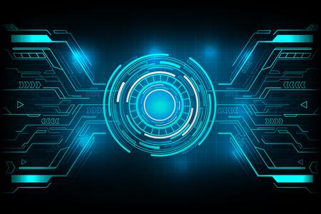 サークル未来技術ベクター デザイン。
