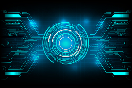Circle futuristic technology vector design.