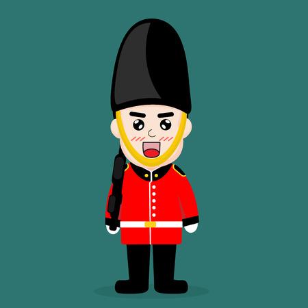 british culture: British troops cartoon vector design. Illustration