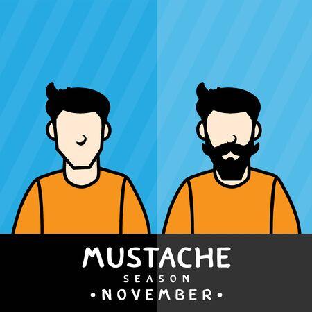 Mustache season vector design.