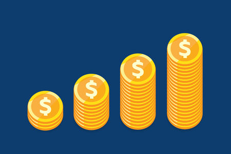 Money growth concept vector design for business.