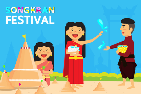 Thailand Songkran Festival Is the new year of Thailand