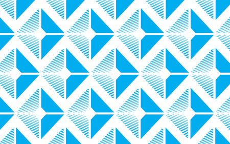Blue geometric abstract pattern vector background design.