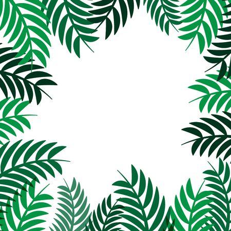 Groen van de bladerenframe vector abstract aardontwerp als achtergrond