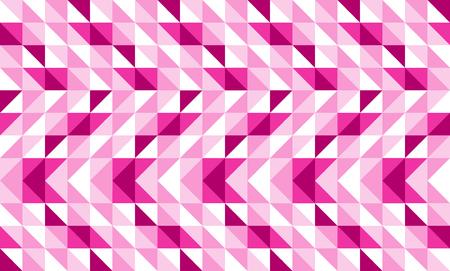 Pink geometric abstract pattern vector background design. Ilustração