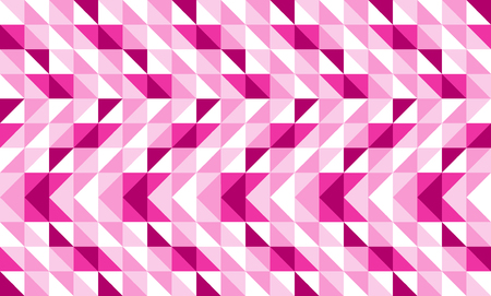 Pink geometric abstract pattern vector background design. Illustration