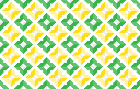 Thai geometric shape abstract vector pattern background design.