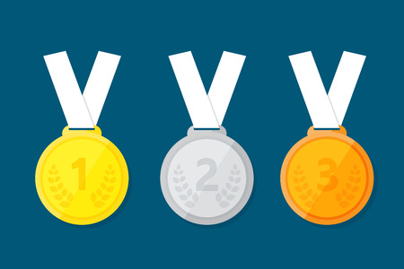 Sports medal for the top three winners. Ilustrace
