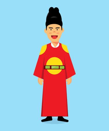 Men wear traditional Korean kings. Ilustrace