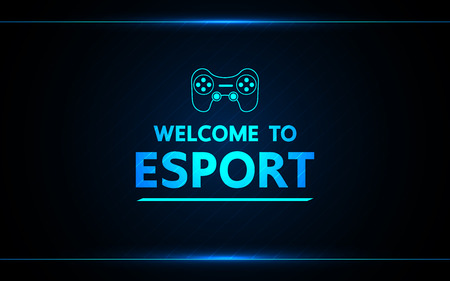 Welcome to e-sport  vector abstract technology game design for business future. Ilustrace