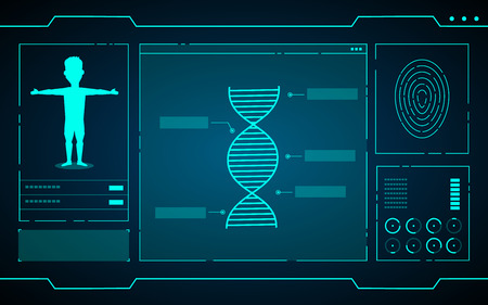 science data on computer technology abstract futuristic background vector design