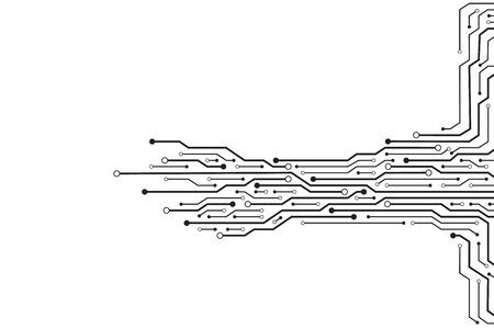 circuit sur fond blanc.