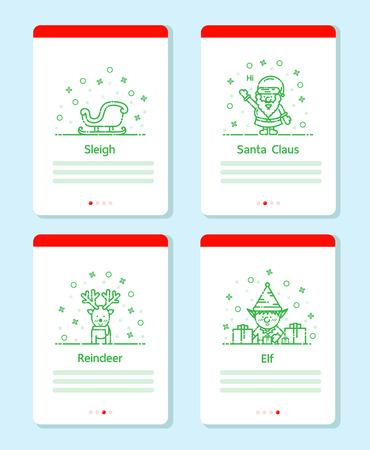 Christmas items set vector line design for Christmas event.