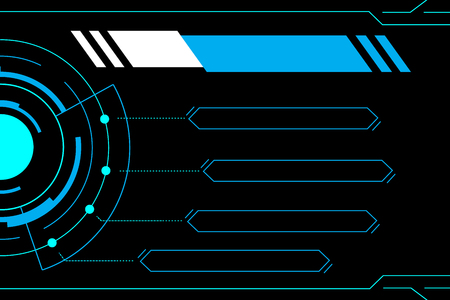 Blue abstract technology future interface hud vector design for business technology .