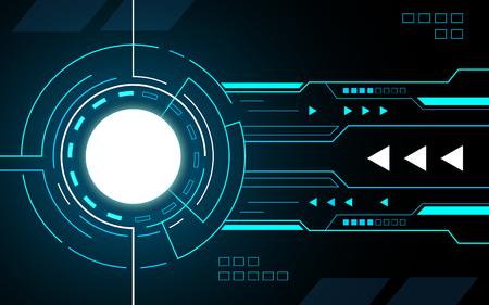 Circle abstract Technology Interface hud