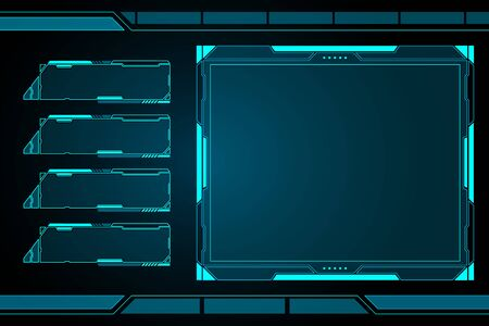 Vector abstract technology future interface hud control panel design.