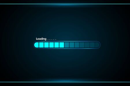loading abstract technology interface hud vector design for technology business. 矢量图像