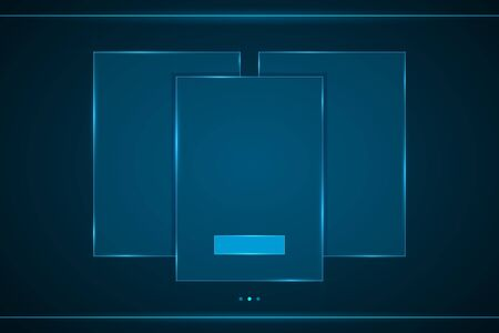 Square frame abstract technology interface hud . Illustration