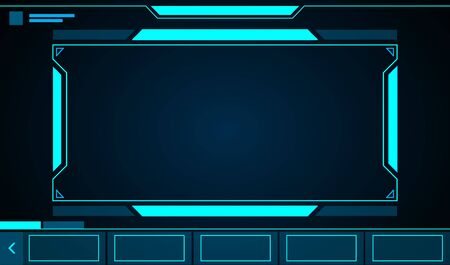 Square frame abstract technology future interface hud .